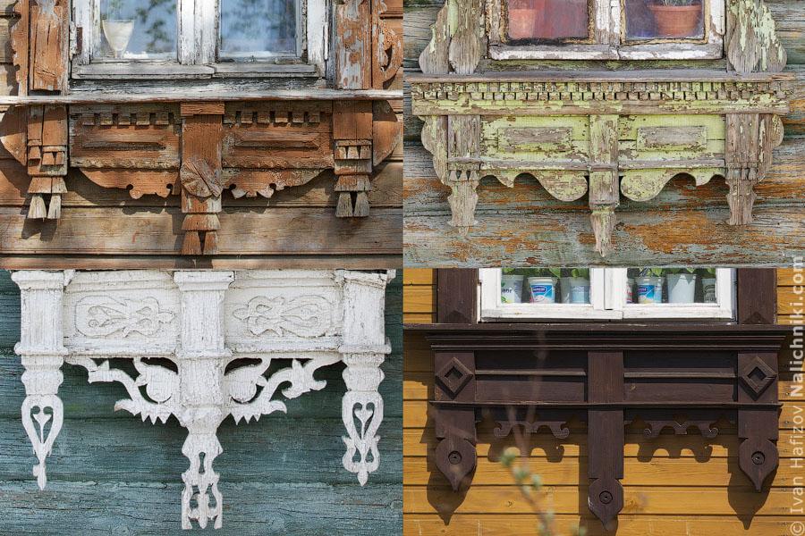 Характерные для Егорьевска элементы деревянной резьбы