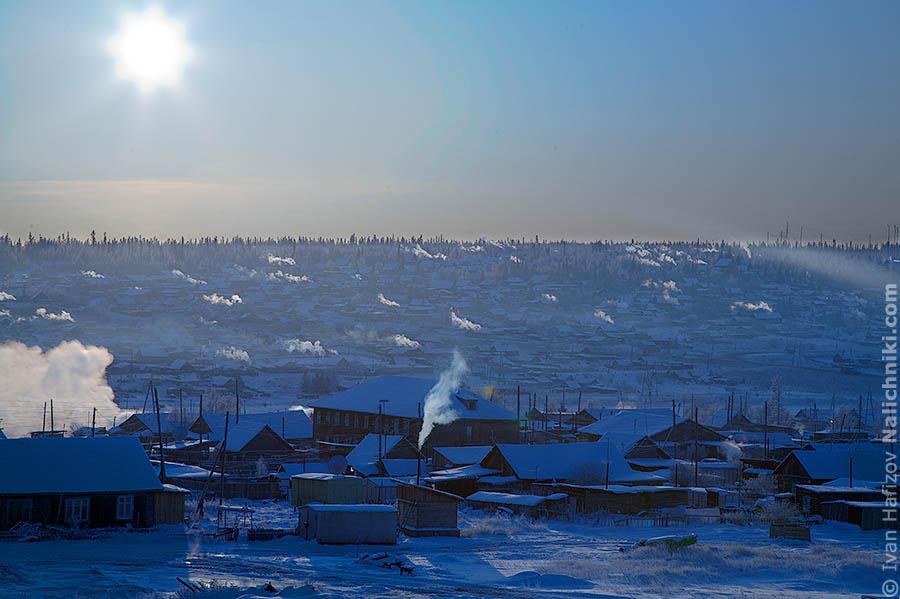 Деревня на морозе