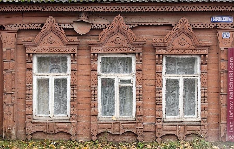 деревянные резные наличники из Иванова