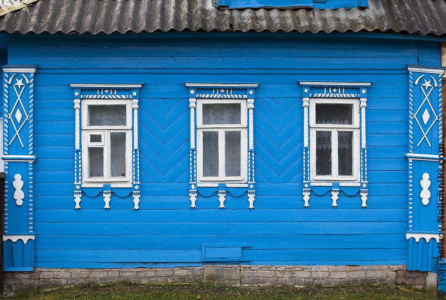 Фасад деревянного дома в Кимрах
