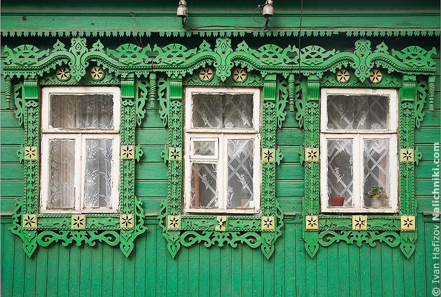 Ковровские окна с наличниками
