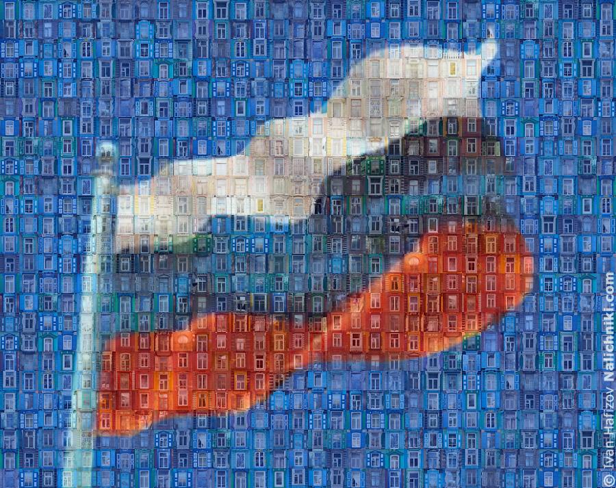 Флаг из наличников