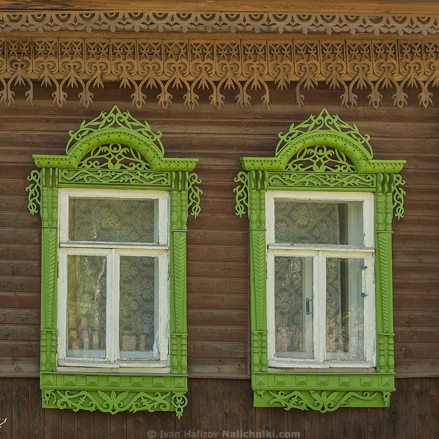 Two fretted window frames from Kostroma