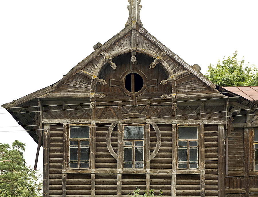 Traditional russian wooden house XIX century
