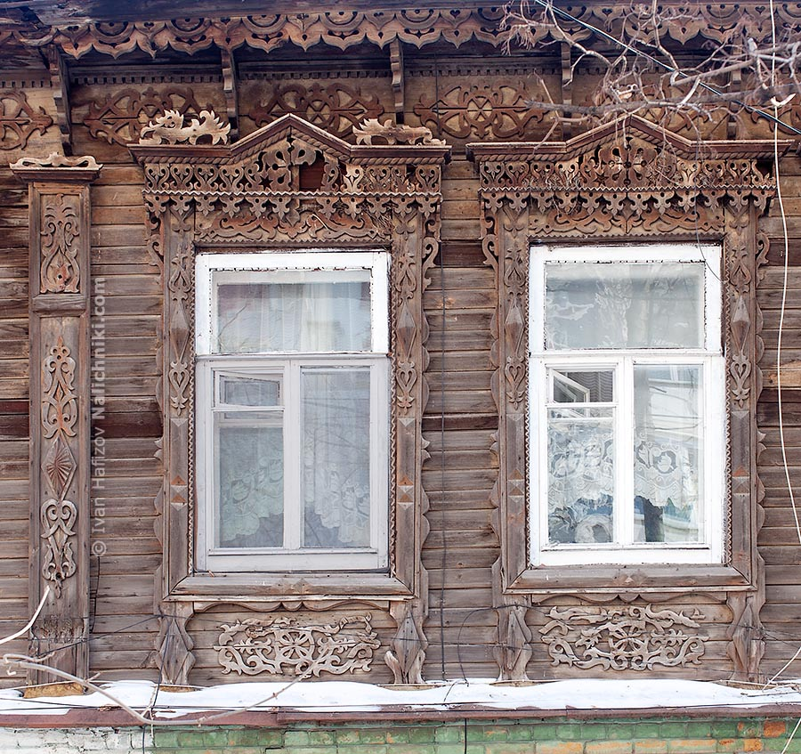 Two old window frames from Samara