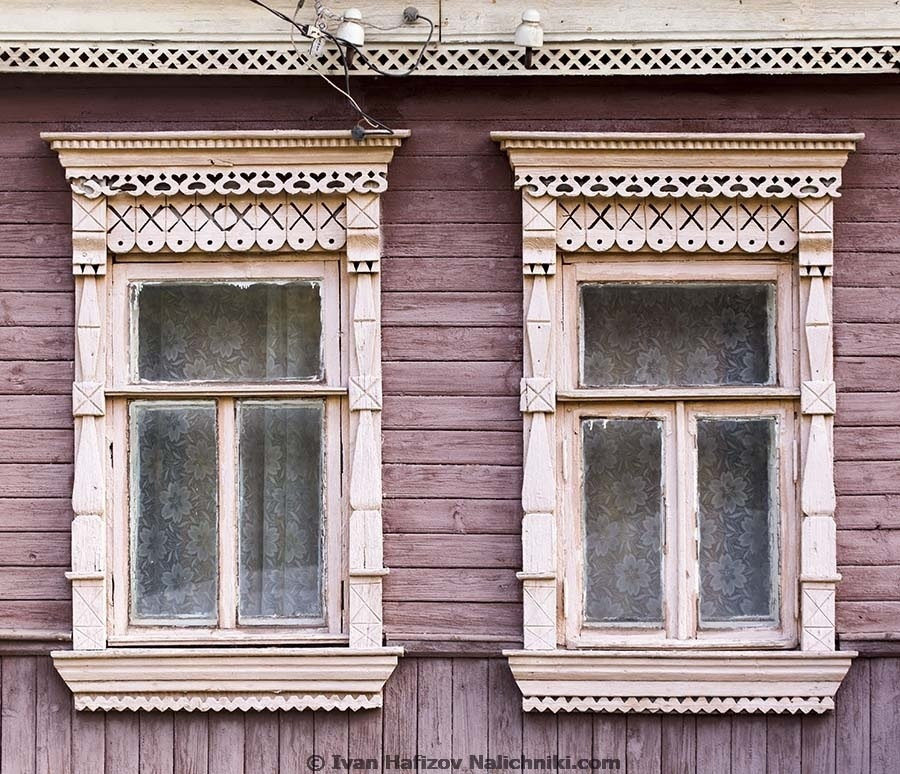 Two ornate wooden frames in Naro-Fominsk - Russian city