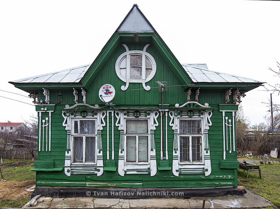 Wooden house in art nouveau style