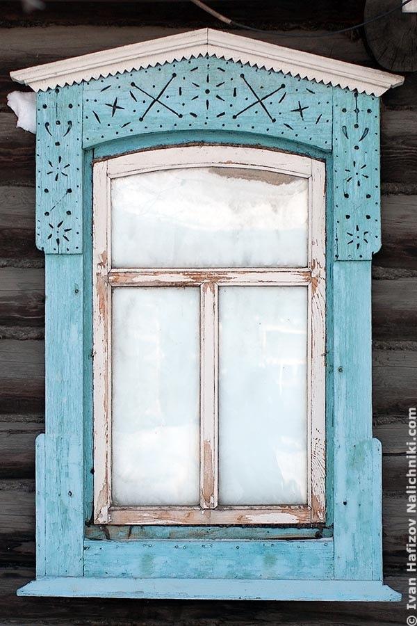 Window frames in Alapayevsk (Sverdlovsk Oblast)