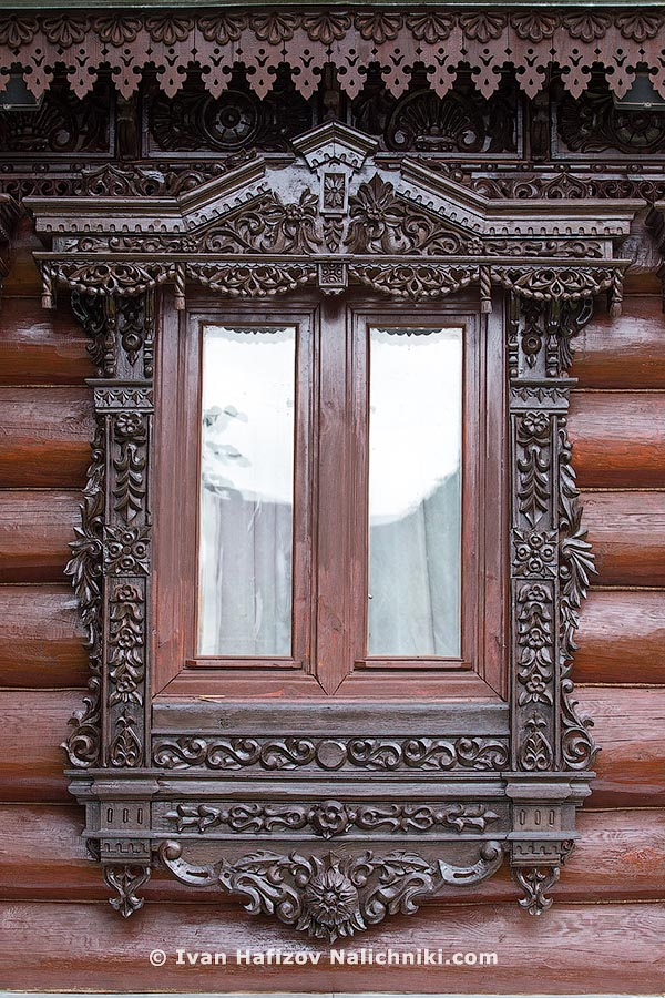 Modern ornate wooden windows frames