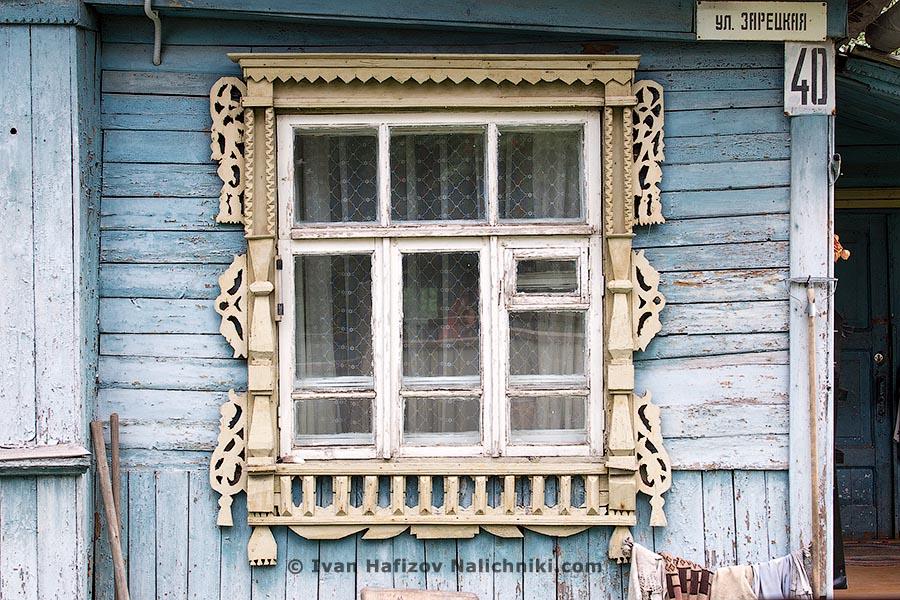 Террасное окно с наличником. Из Клина Московской области.