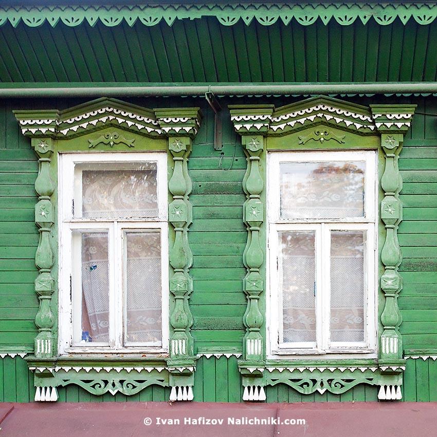Характерные Борисоглебские наличники (Воронежская область)