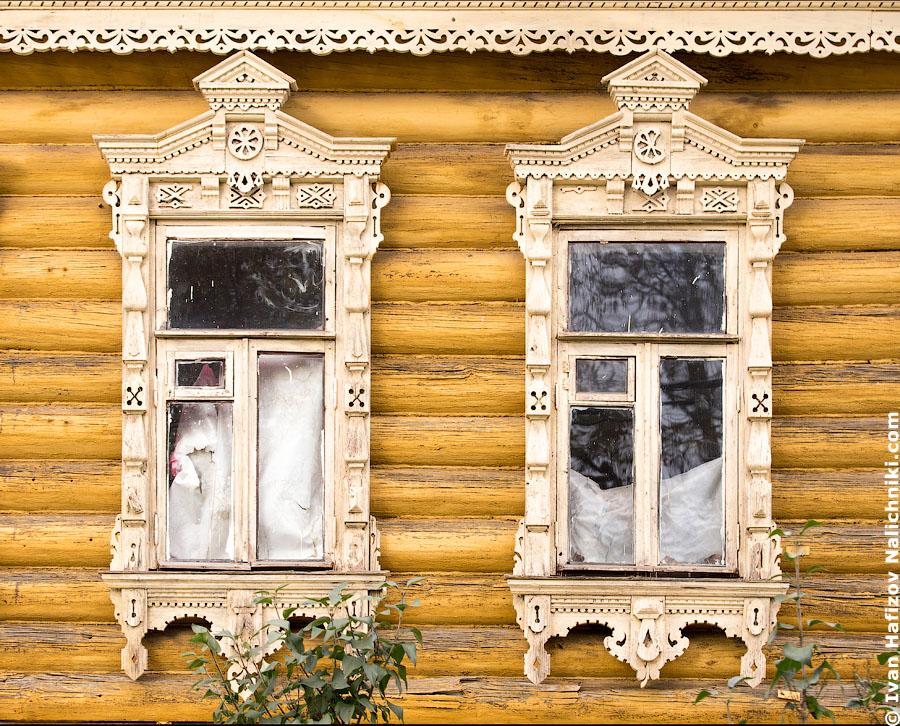 Традиционные коломенские резные деревянные наличники