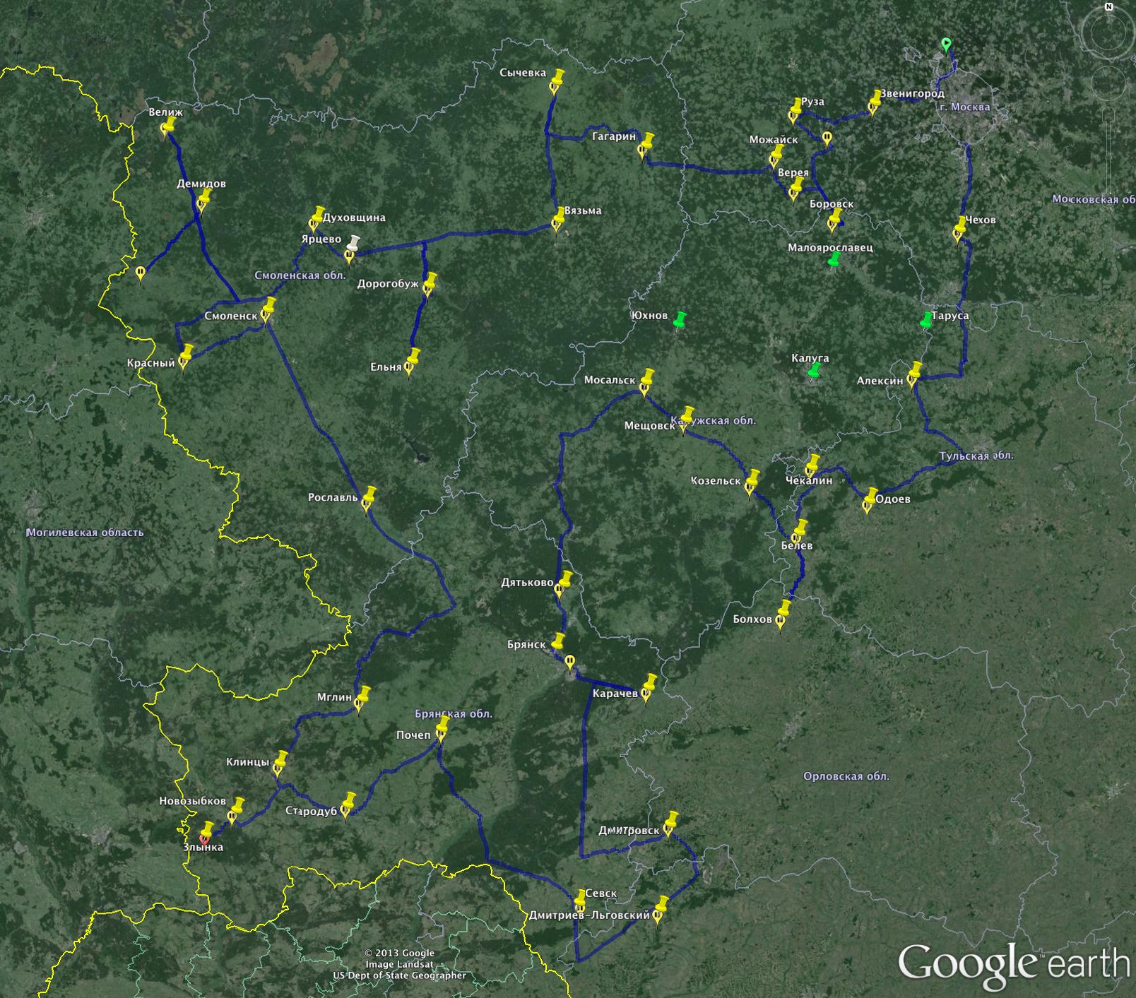 Карта маршрута за наличниками