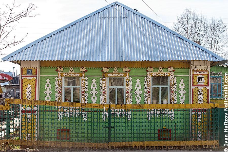 Резной деревянный дом из Грязовца Ярославской области
