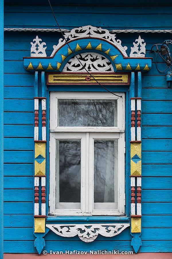 Традиционный русский наличник из Ярославля