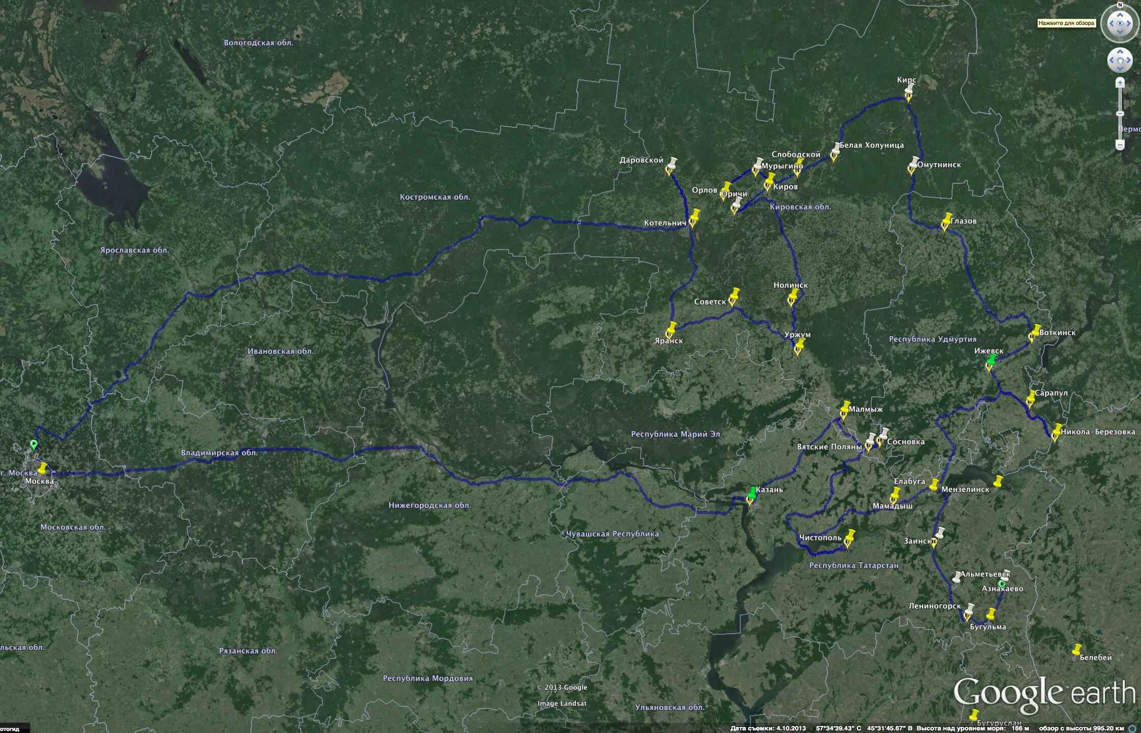 Маршрут в поисках наличников, охватывающий Кировскую область, Удмуртию и Татарстан