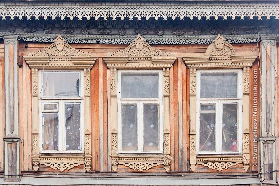 Резные наличники на окнах Кинешмы