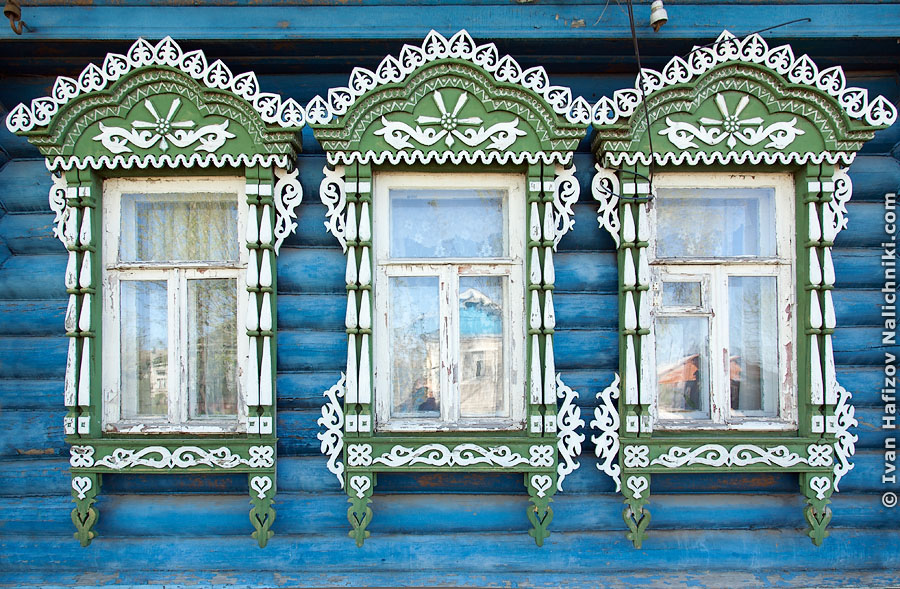 Русские резные наличники. Владимирская область, Ковров.