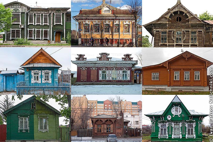 Резные дома из разных регионов России