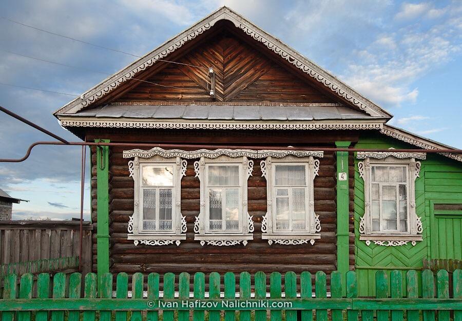 Красивый дом с наличниками. Кулебаки.