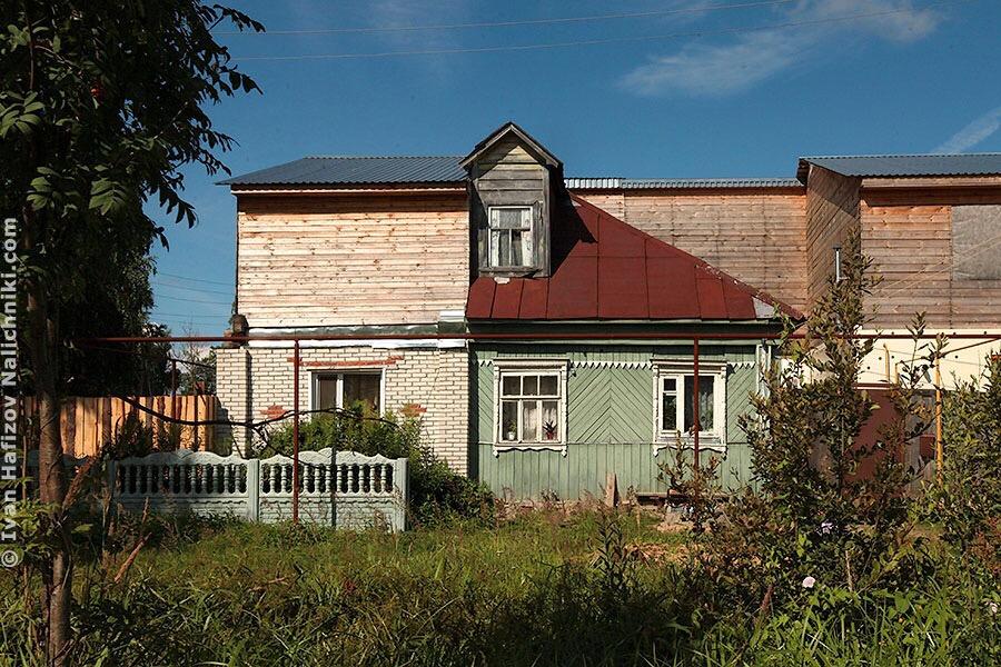 деревянно-кирпичный дом в Гусе Хрустальном
