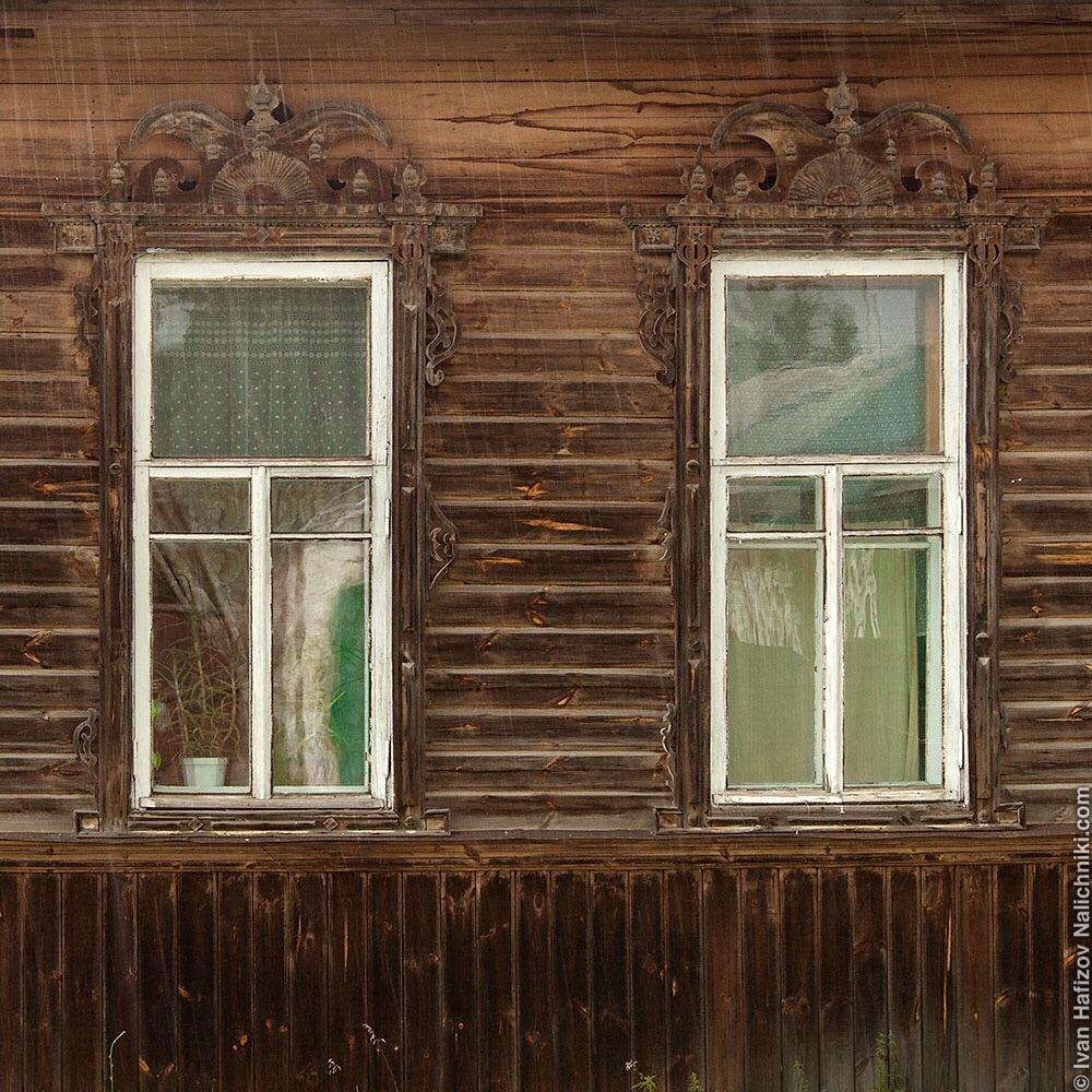 красивые резные наличники. Меленки Владимирской области.