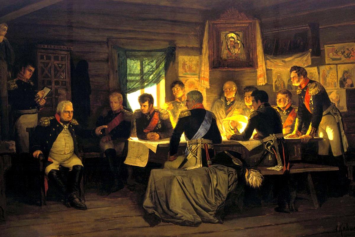 Картина «Военный совет в Филях» Кившенко А.Д.
