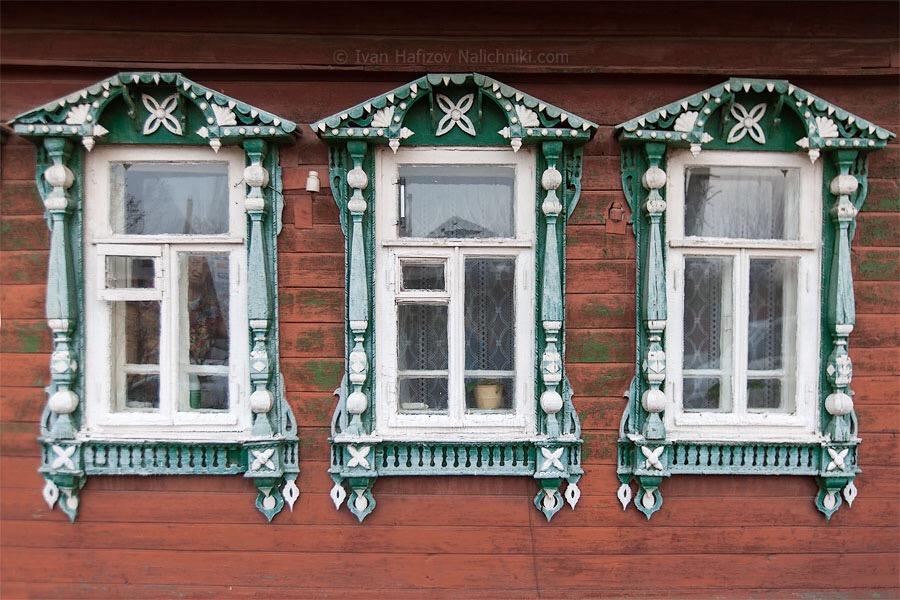 прекрасные наличники из Кимр Тверской области
