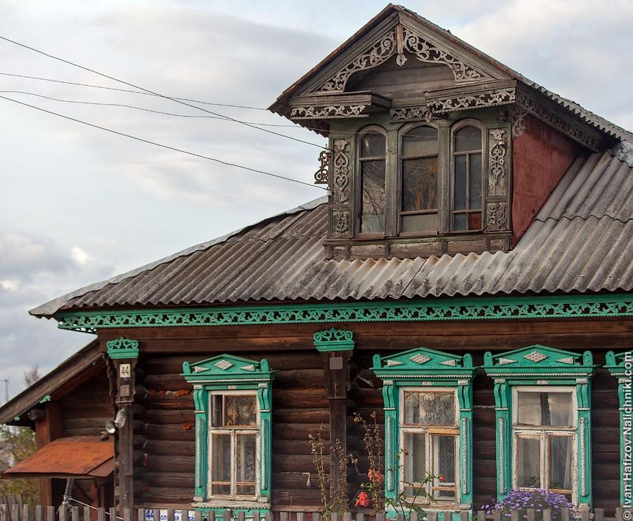 красивый деревянный дом в Вичуге