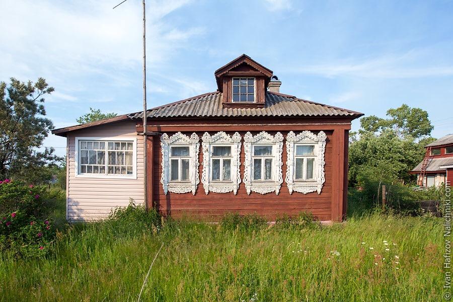 дом с резными наличниками в Крутове Владимирской области