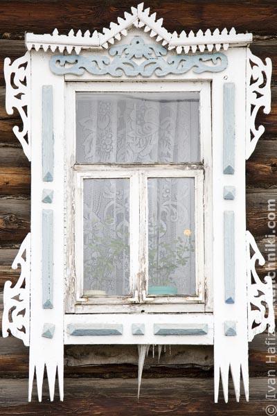 Резной деревянный наличник Ижевска