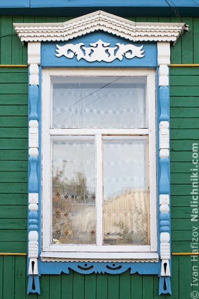 Традиционные наличники жителей города Поворино Воронежской области