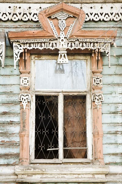 Традиционные наличники Коврова Владимирской области